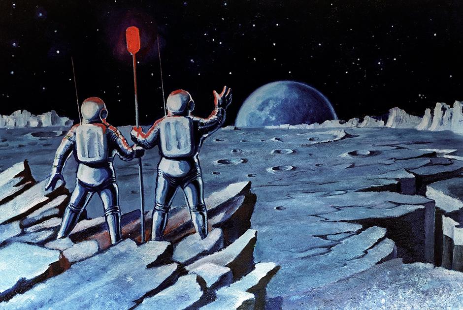 «В результате с Луной американцы нас действительно опередили. И всерьез верить в то, что они не были на Луне, могут только абсолютно невежественные люди. И, к сожалению, вся эта нелепая эпопея о якобы сфабрикованных в Голливуде кадрах, началась именно с самих американцев».