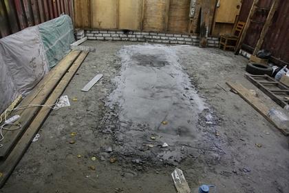 В российском городе нашли забетонированное тело мужчины