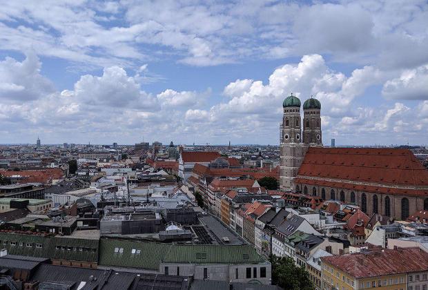 Мюнхен с высоты птичьего полета.