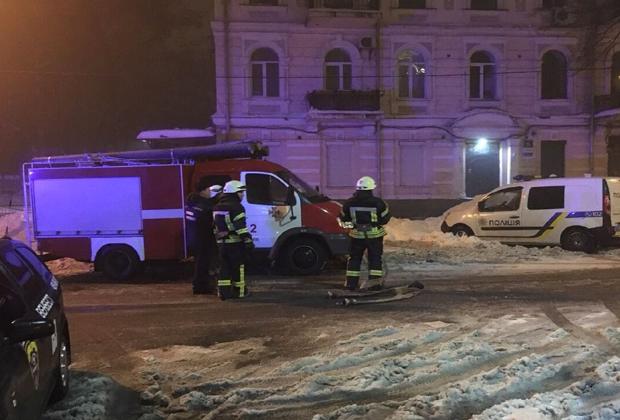 Обстрелянный ресторан «Лео» в центре Киева