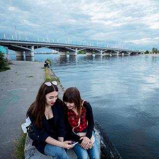 На городской набережной реки Воронеж