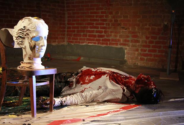 Перформативный спектакль «Портрет» авторского театра «Эскизы в пространстве»