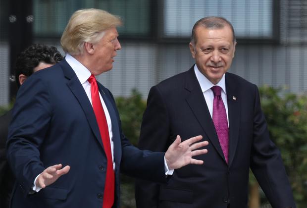 Дональд Трамп и Реджеп Эрдоган