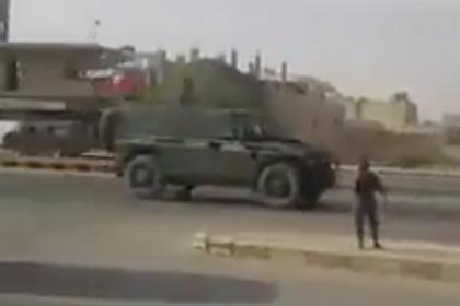Прибытие российской военной полиции в Манбидж попало на видео