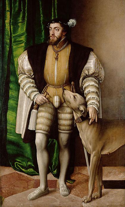 «Карл V с собакой», 1532