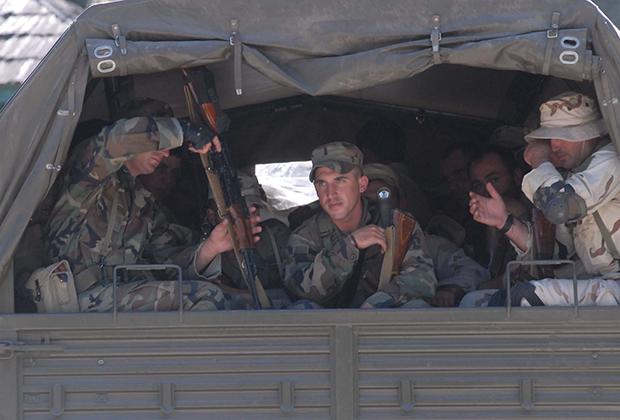 Грузинские военные в Кодорском ущелье, 2006 год