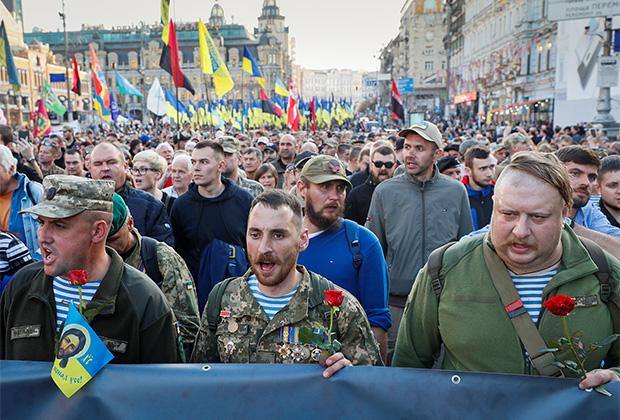 Выступления против урегулирования по «формуле Штайнмайера» в Киеве