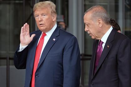 Дональд Трамп (слева) и Реджеп Тайип Эрдоган