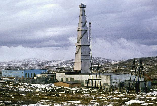 Кольская сверхглубокая скважина. Буровая первого этапа (глубина 7600 м), 1974 год