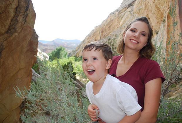 Сьюзан Пауэлл с сыном