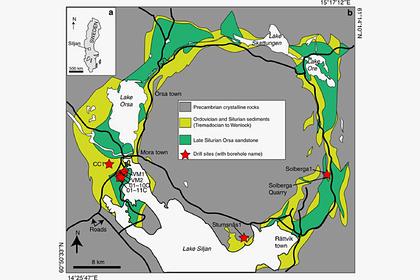 В древнем кратере нашли следы неизвестных организмов
