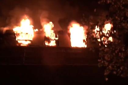 В Германии сгорел поезд с футбольными фанатами