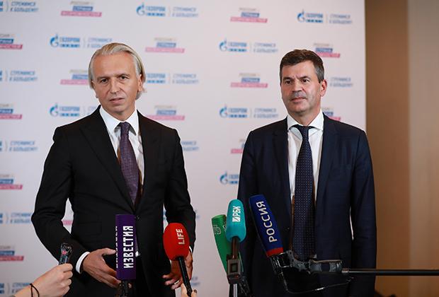 Председатель правления ПАО «Газпром нефть» Александр Дюков и генеральный директор АНО «Россия — страна возможностей» Алексей Комиссаров