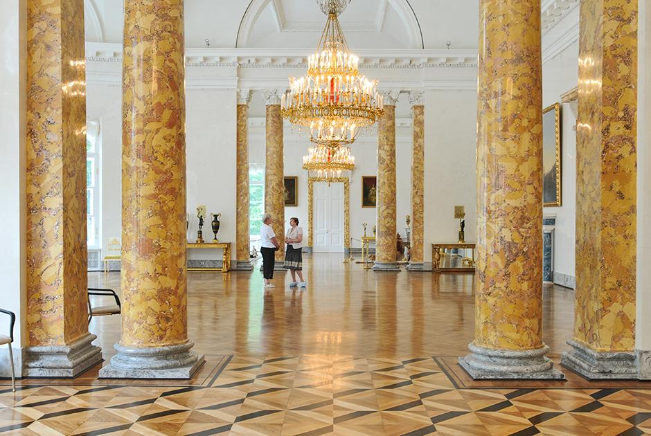 Один из трех отреставрированных залов Парадной анфилады Александровского дворца в Царском Селе