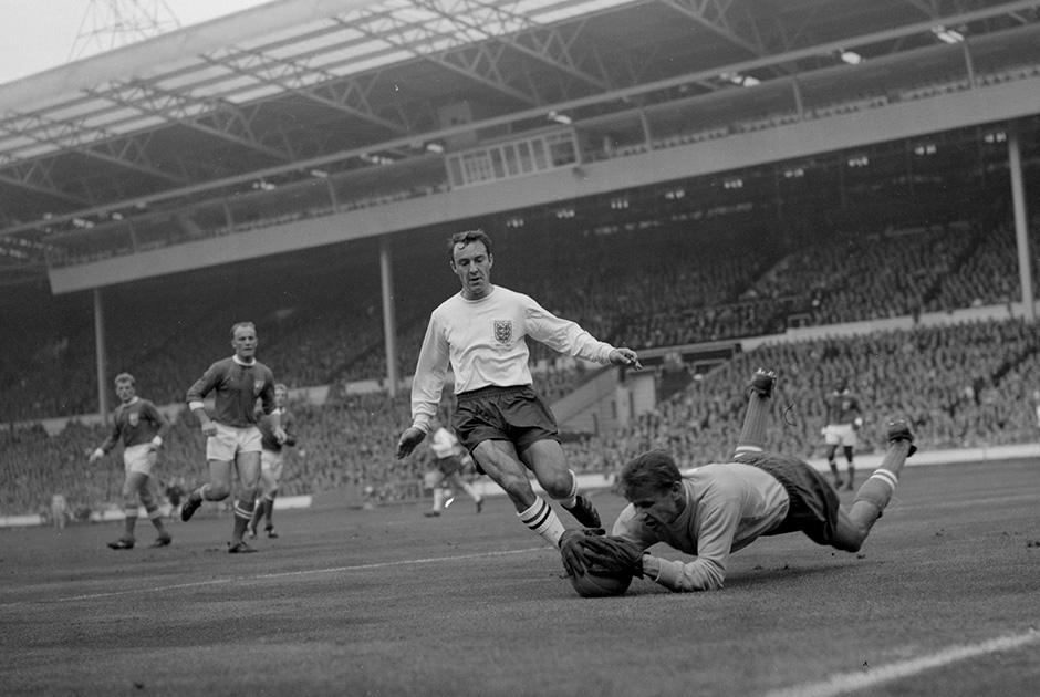 1963 год. Лев Яшин во время матча на «Уэмбли»