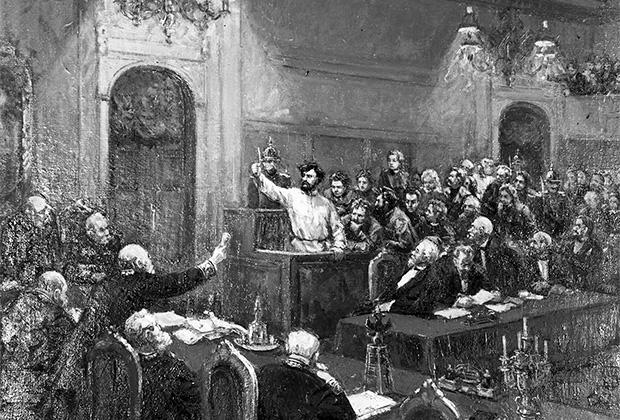 «Процесс пятидесяти» («процесс москвичей») — политический суд над молодыми народниками, проходивший в 1877 году. Петр Алексеев — один из обвиняемых по делу, чья  знаменитая речь в суде 9 марта 1877 года стала программной для будущих поколений российских революционеров.