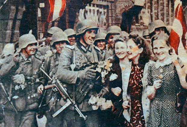 Пропагандистская открытка Третьего рейха