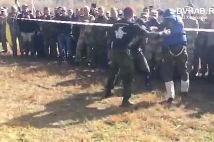 Опубликовано видео смертельного боя росгвардейца на испытании