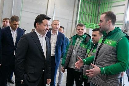 Воробьев проверил готовность распределительного центра «Леруа Мерлен»