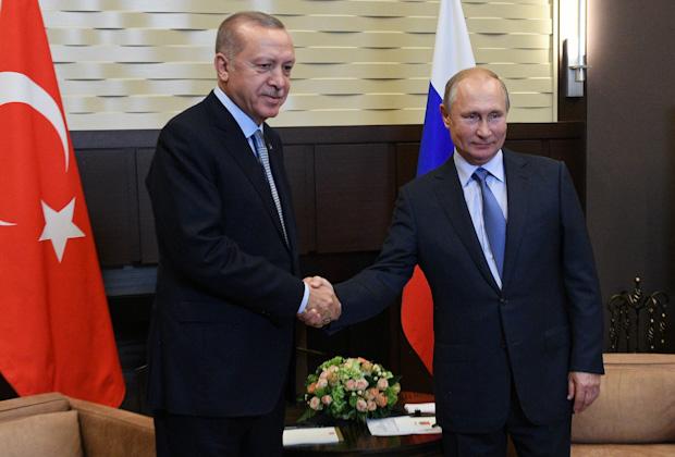 Реджеп Тайип Эрдоган и Владимир Путин