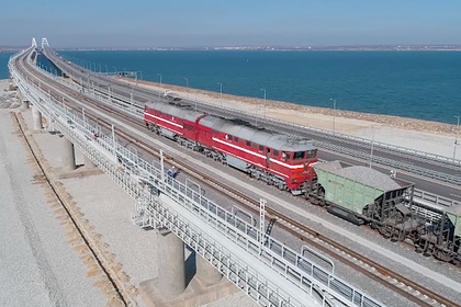 Испытание Крымского моста гружеными вагонами показали на видео