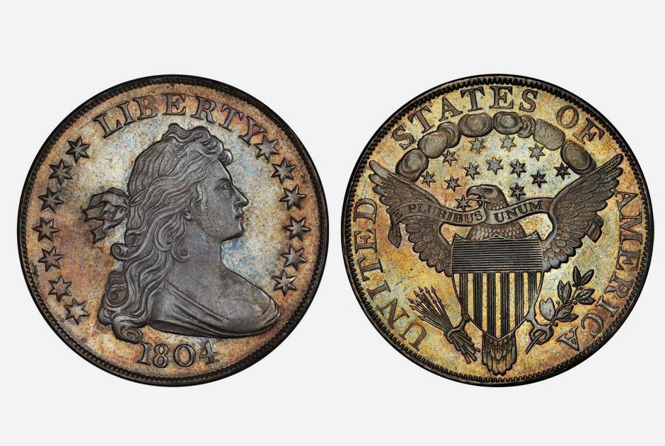 Такие доллары хоть и датированы 1804 годом, но выпускались спустя несколько десятилетий. Монеты изначально не были предназначены для прямого использования: их отчеканили в качестве дипломатических подарков для глав азиатских стран.