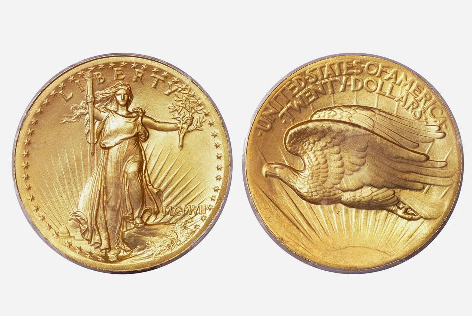 Золотые монеты номиналом в 20 долларов использовались в основном для международной торговли. Впоследствии большинство монет переплавили, когда страна отказалась от золотого стандарта. Остались лишь считанные экземпляры.