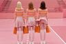 Это кадр из клипа на песню Grille немецкой группы Die Orsons. Немецкий фотограф Моника Менез привнесла в ролик дух сюрреализма и абсурда, который она использует в качестве приема и в фотографии. Местом действия стал окрашенный в розовый спортивный зал, а героями — чирлидерши с невеселыми лицами, пассажиры надувной лодки с игрушечными акулами и зрители с клешнями.