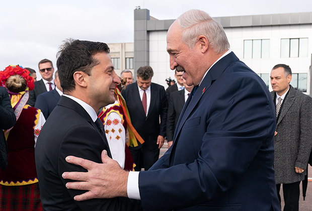 Владимир Зеленский и Александр Лукашенко