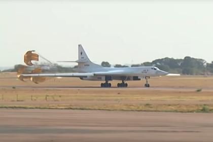 Прилет Ту-160 в Африку попал на видео