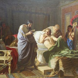 «Доверие Александра Македонского к врачу Филиппу» (художник Генрих Семирадский, 1870)