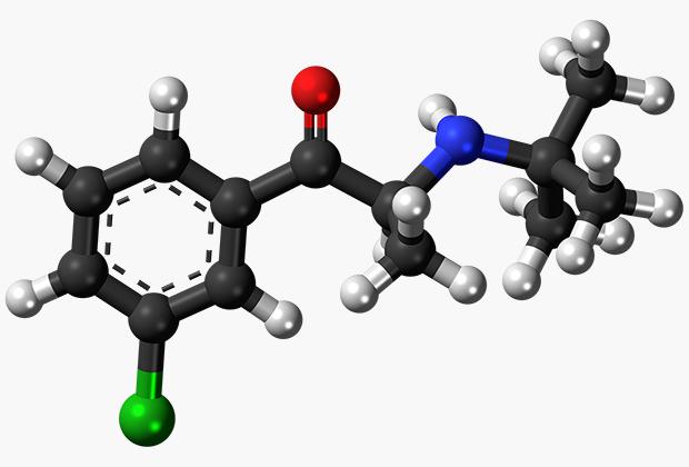 Модель молекулярной структуры Бупропиона