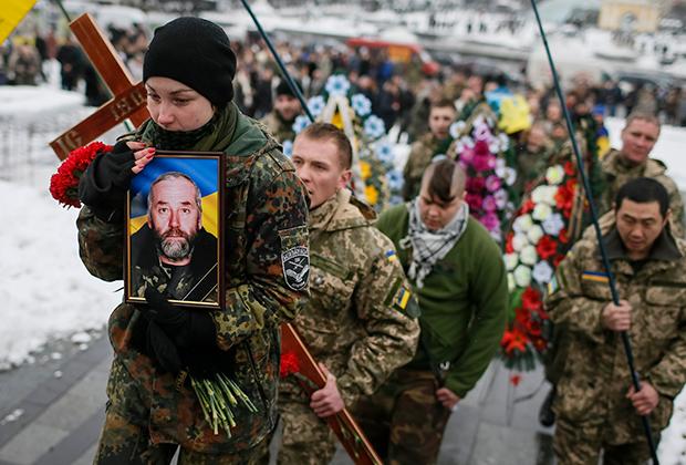 Похороны бойца украинского батальона «Айдар»
