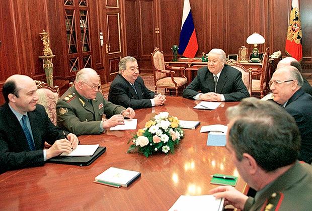 Обсуждение конфликта в Югославии. Кремль, 19 апреля 1999 года
