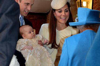 Принц Уильям и Кейт Миддлтон с сыном Джорджем