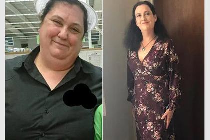Женщина сбросила 73 килограмма на диете из бургеров и чипсов