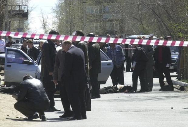 Место убийства Леонида Калинина