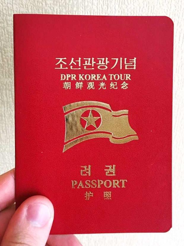 Сувенирный паспорт КНДР для иностранных туристов