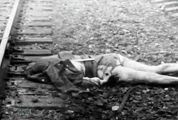 Тело жертвы, сброшенное Нагиевым с поезда