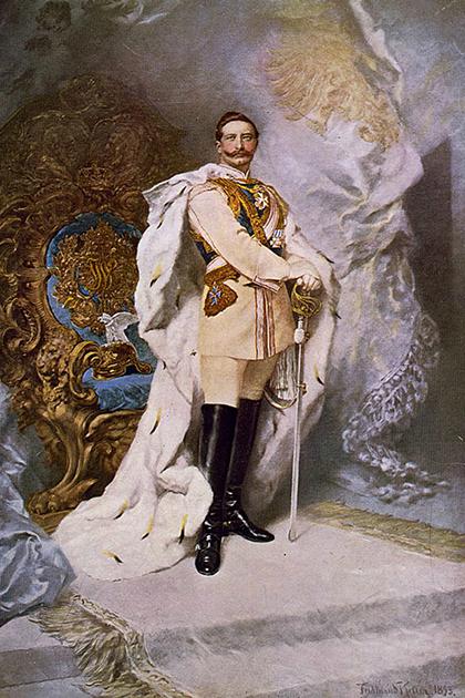 Портрет Вильгельма II в парадном мундире