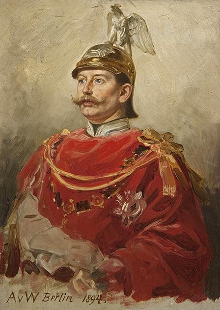 Портрет императора Германии Вильгельма II, короля Пруссии