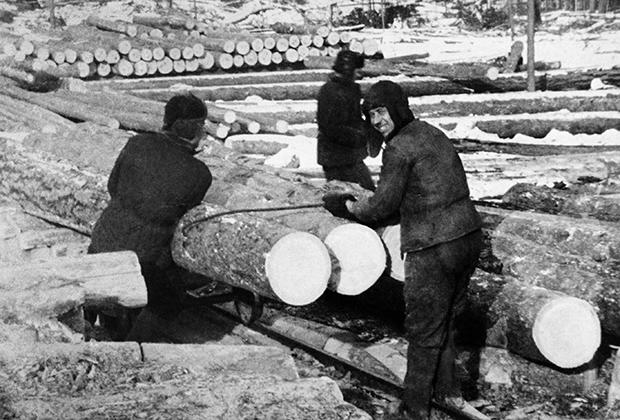 Работа заключенных в Озерлаге