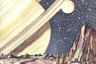 В начале 1950-х на обложки попадают также и новейшие архитектурные строения — к примеру, московские сталинские высотки. Журнал четко следует трендам современности: описывает большие стройки, призывает осваивать космос. Представлялось, что вскоре СССР будет строить колонии на новых планетах и дружить со внеземными цивилизациями против капиталистического мира. Художники изображали такое будущее очень реалистично. Возможно, дело в том, что иллюстратор журнала «Техника —молодежи» Константин Арцеулов в прошлом был летчиком, а Николай Колчицкий — инженером: это позволяло им изображать фантастические механизмы максимально достоверно.