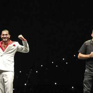 Хорхе Масвидаль (слева) и Нэйт Диас