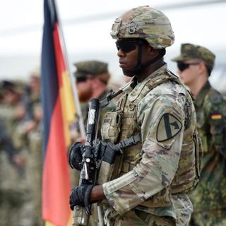 Военнослужащий армии США на учениях под эгидой НАТО в Грузии