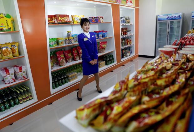 Магазин на улице Рёмён в Пхеньяне