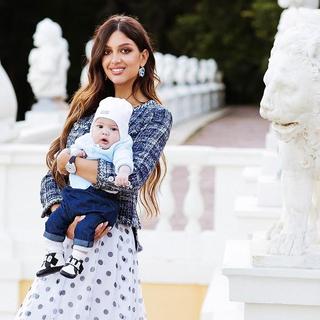 Оксана Воеводина с сыном