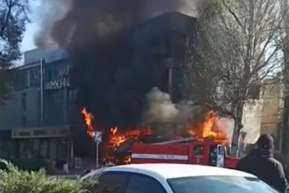 Взрыв в центре Бишкека попал на видео