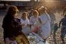 Западную часть Берлина за последующие три дня посетили более 3 миллионов человек. Их радостно встречали оставшиеся по ту сторону родственники и друзья, а также простые граждане ФРГ.  <br></br> Германское руководство благодарно за мирное падение стены первому президенту СССР Михаилу Горбачеву: президент Франк-Вальтер Штайнмайер в юбилейную годовщину протестов передал ему благодарственное письмо, в котором отметил его «личную активную роль в объединении Германии».