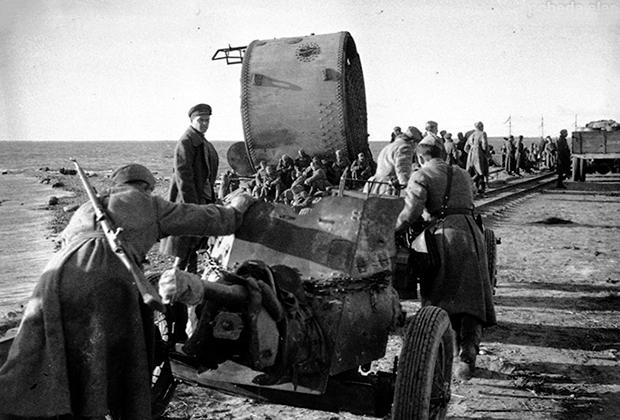 Переправка Эстонского корпуса на остров Даго (Хийумаа)